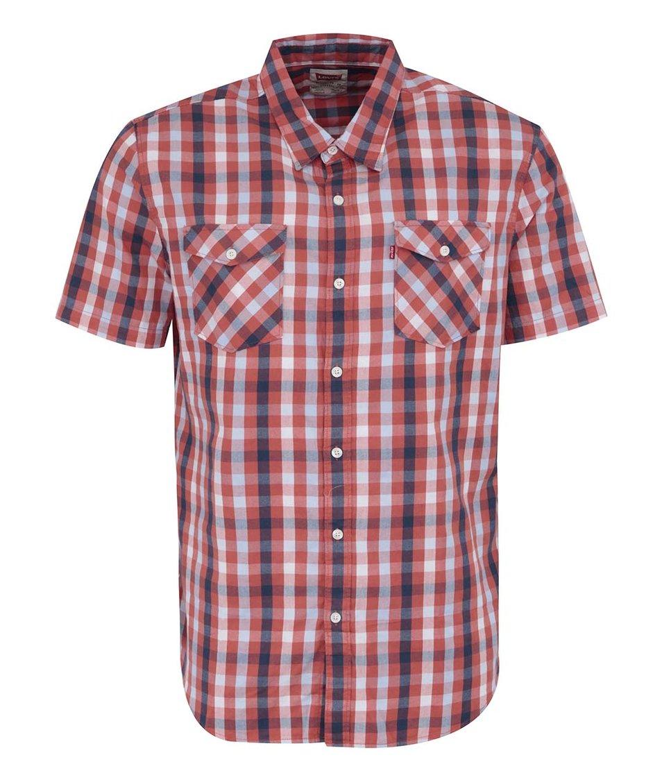 Červeno-bílá pánská kostkovaná košile Levi's® Truckee western