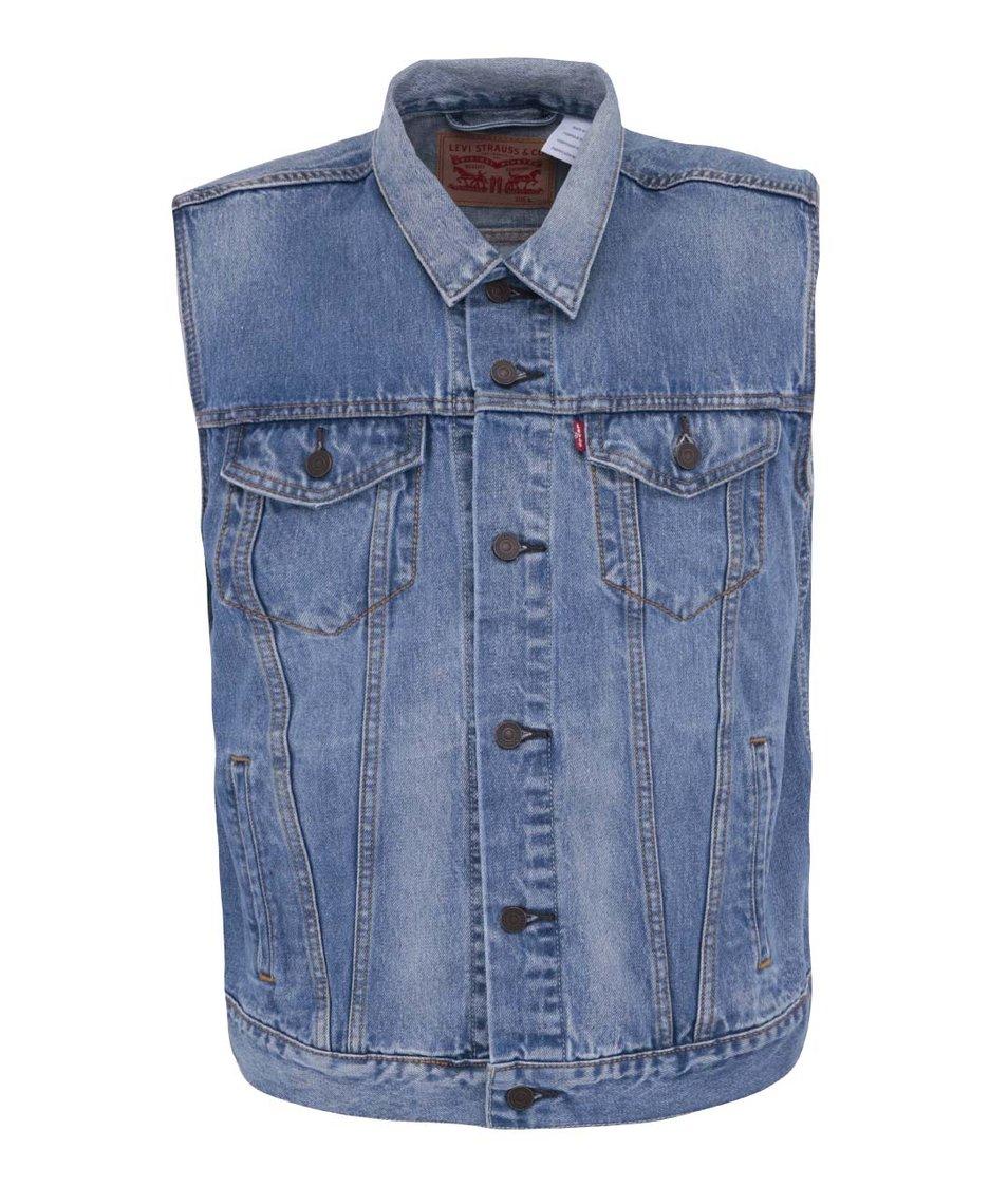 Světe modrá pánská džínová vesta Levi's® Trucker