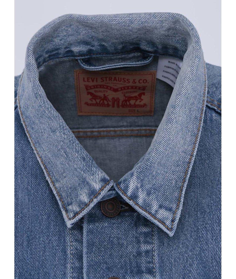 Světe modrá pánská džínová vesta Levi s® Trucker - Vánoční HIT ... cbcac6a031