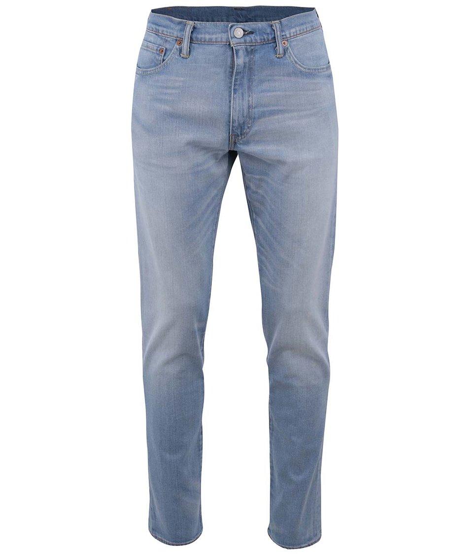 Světle modré pánské slim džíny s vyšisovaným efektem Levi's® Aber