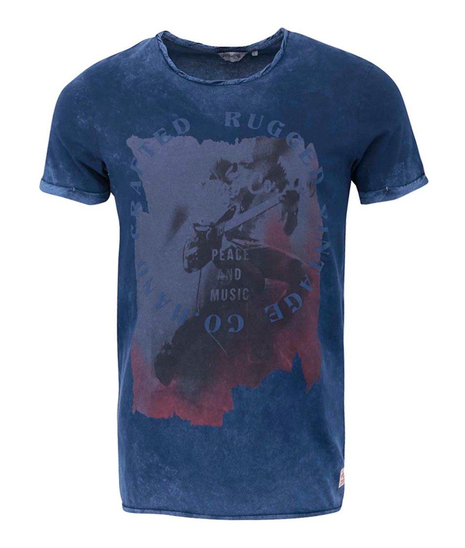 Modré triko Jack & Jones Peace Festival