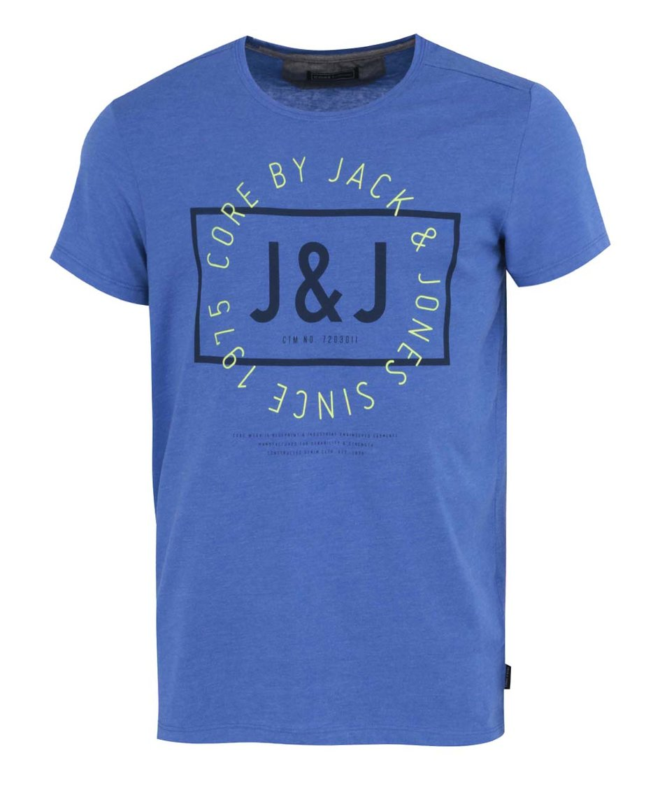 Modré tričko s potiskem Jack & Jones Tag