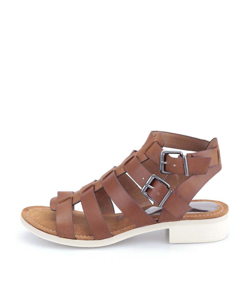 Hnědé páskové sandálky Tamaris