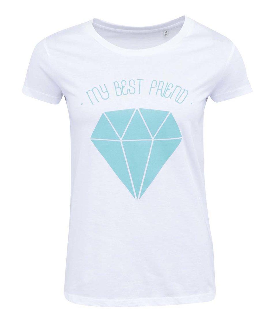 Bílé dámské tričko ZOOT Lokál My Best Friend