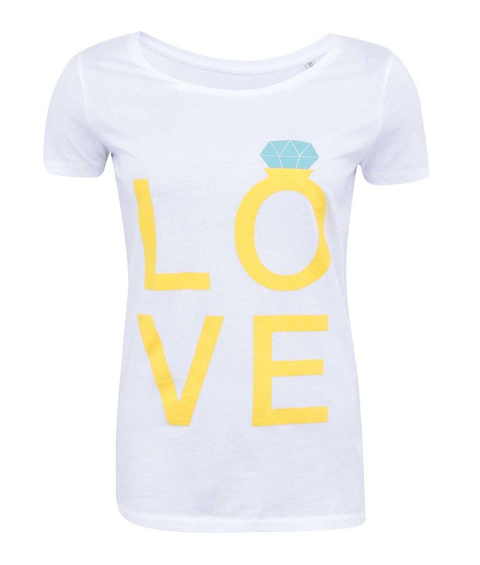 Bílé dámské tričko ZOOT Lokál Love Ring
