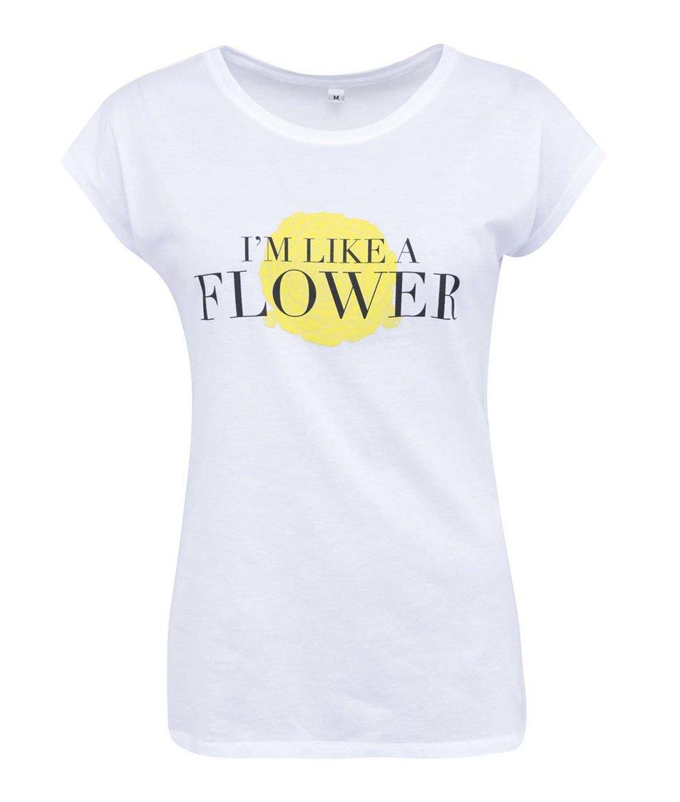 Bílé dámské tričko ZOOT Lokál Like A Flower