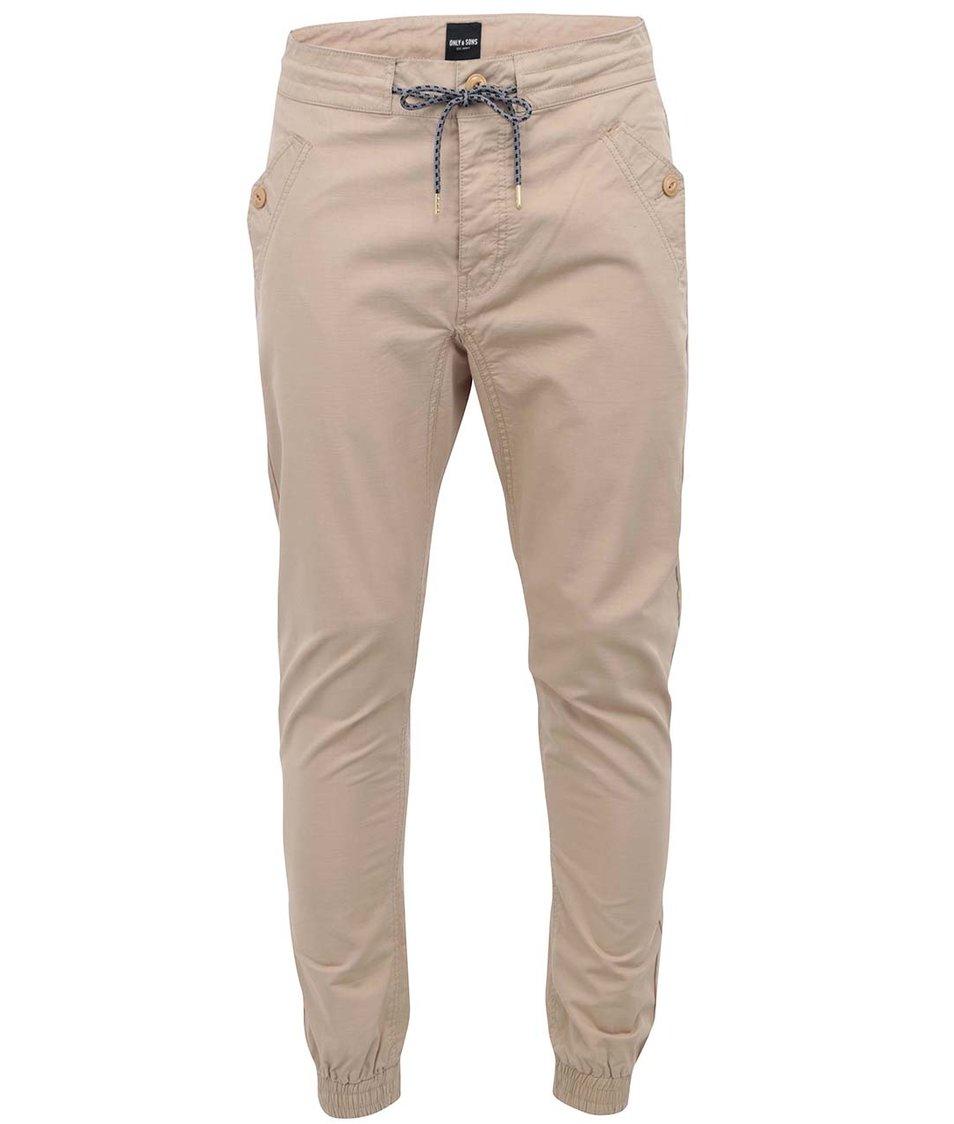 Béžové chino kalhoty ONLY & SONS Pavlov