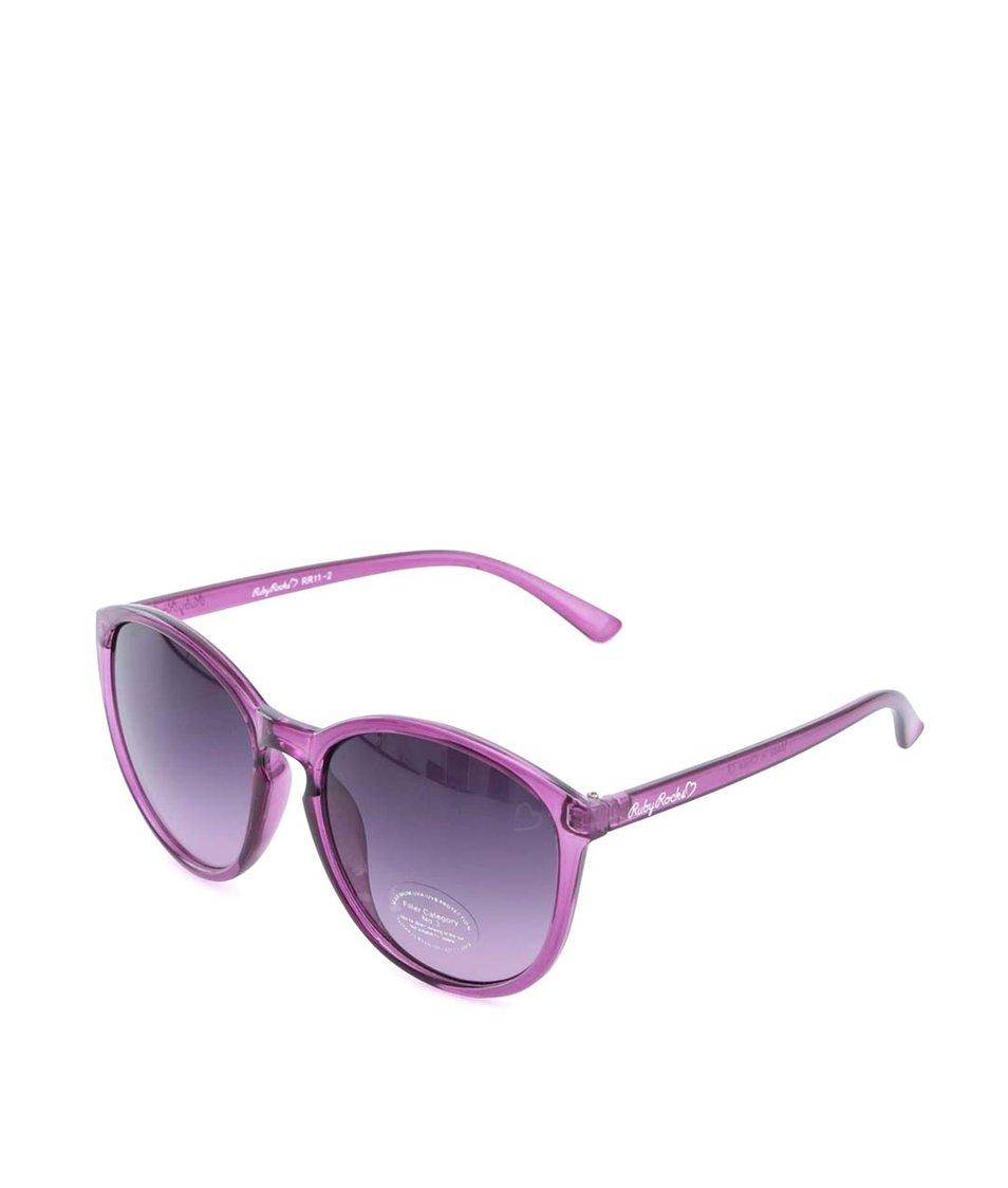 Růžové transparentní sluneční brýle Ruby Rocks