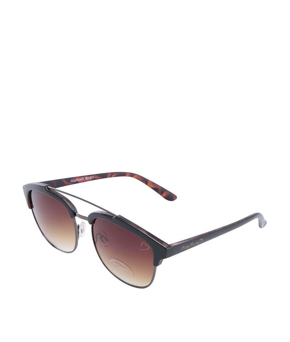 Hnědé sluneční brýle Ruby Rocks