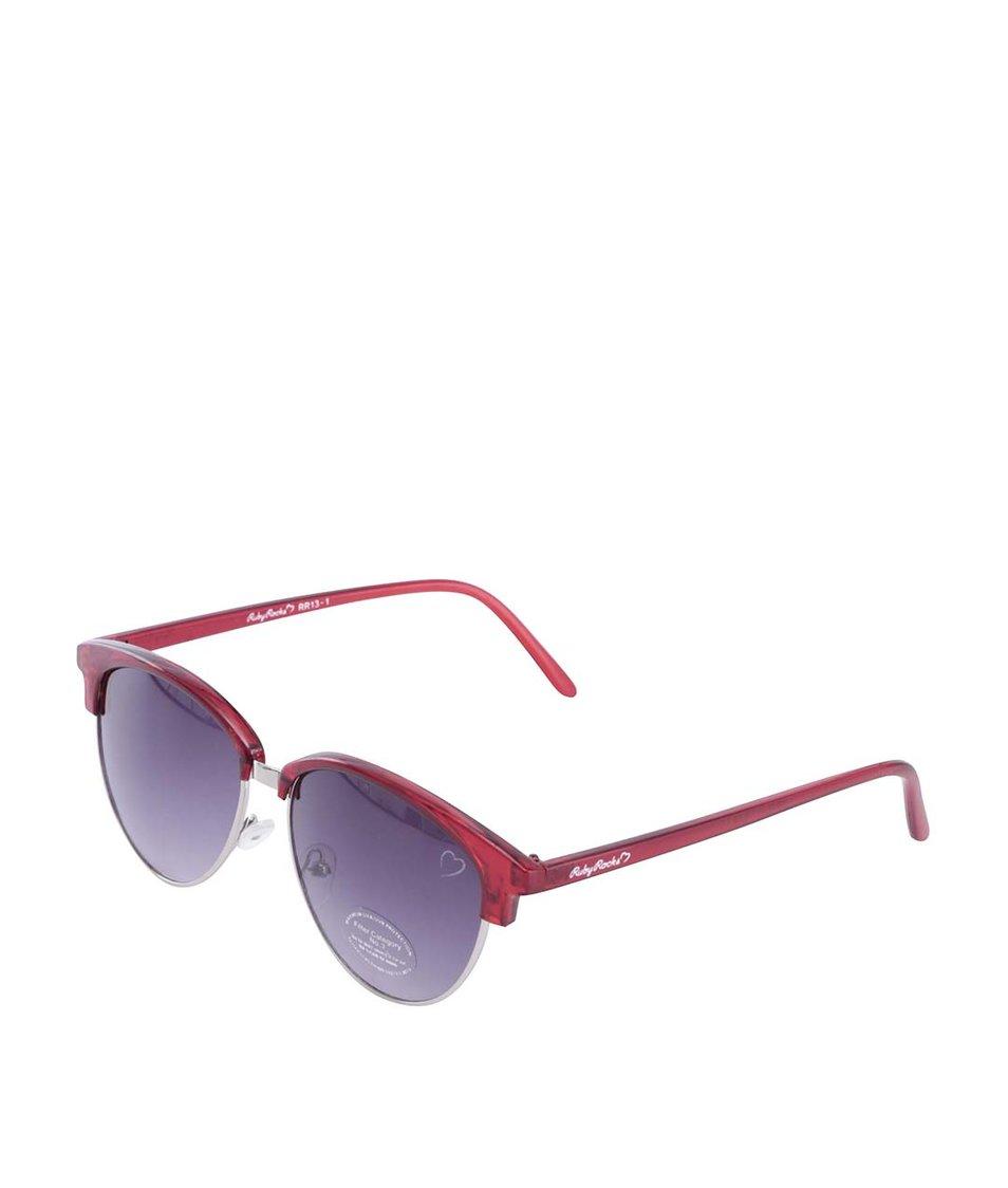 Černo-červené sluneční brýle Ruby Rocks