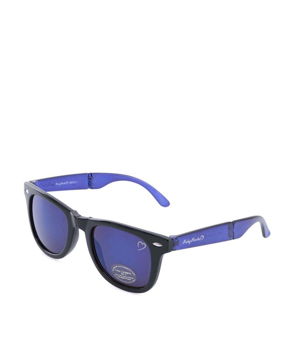 Modro-černé sluneční brýle Ruby Rocks