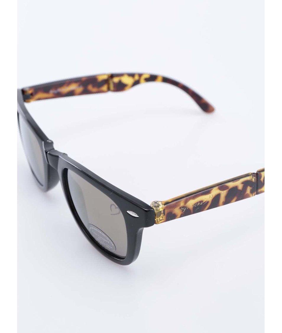 Žluto-černé želvovinové sluneční brýle Ruby Rocks