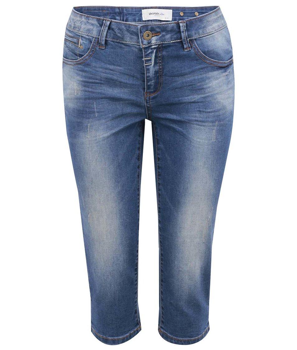 Tmavě modré džínové kraťasy Vero Moda Gambler