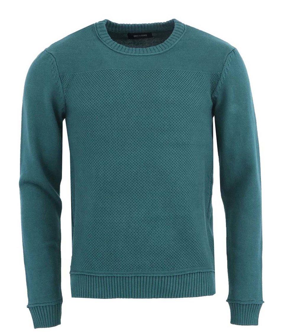 Zelený svetr ONLY & SONS Talmon