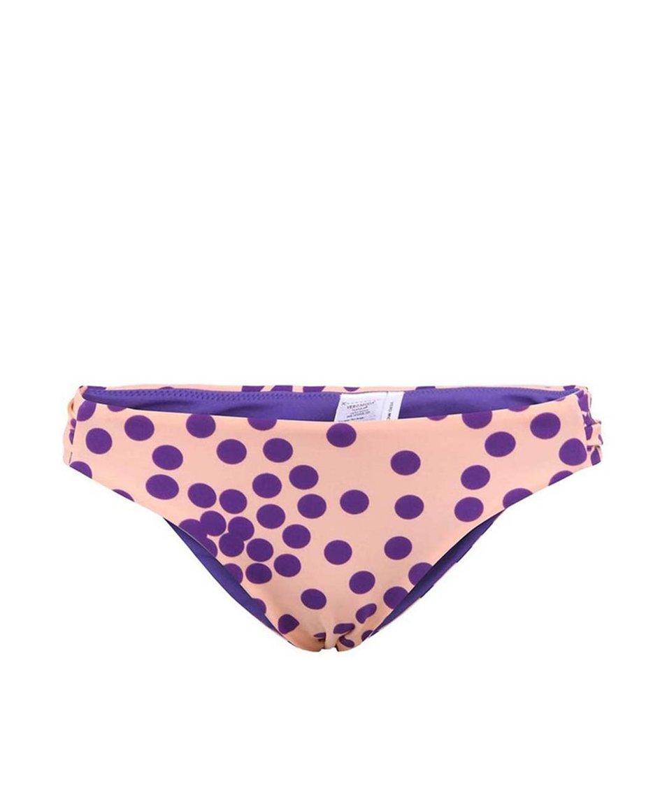 Meruňkový spodní díl plavek s puntíky Vero Moda Dotty