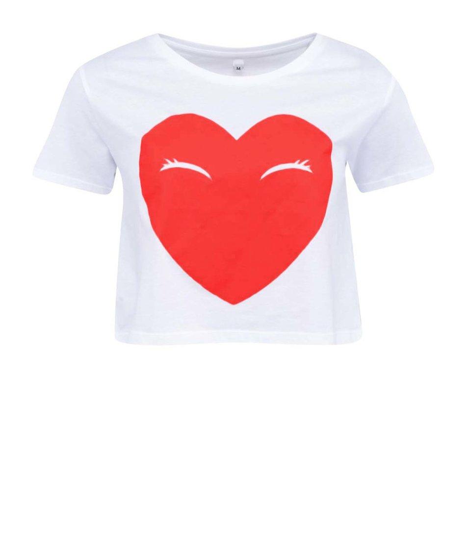 Bílé dámské tričko ZOOT Lokál Srdce