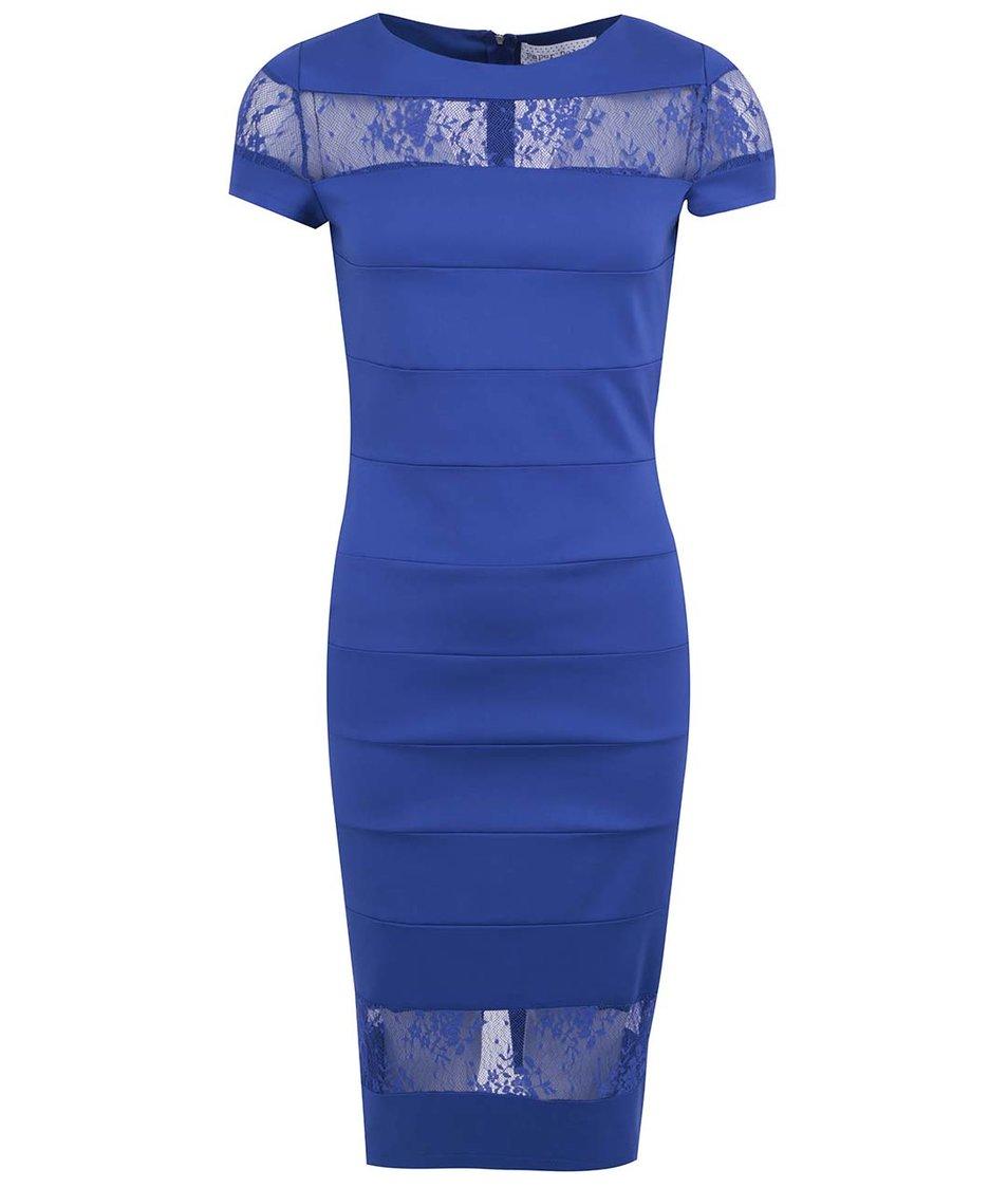 Modré šaty s krajkou Paper Dolls