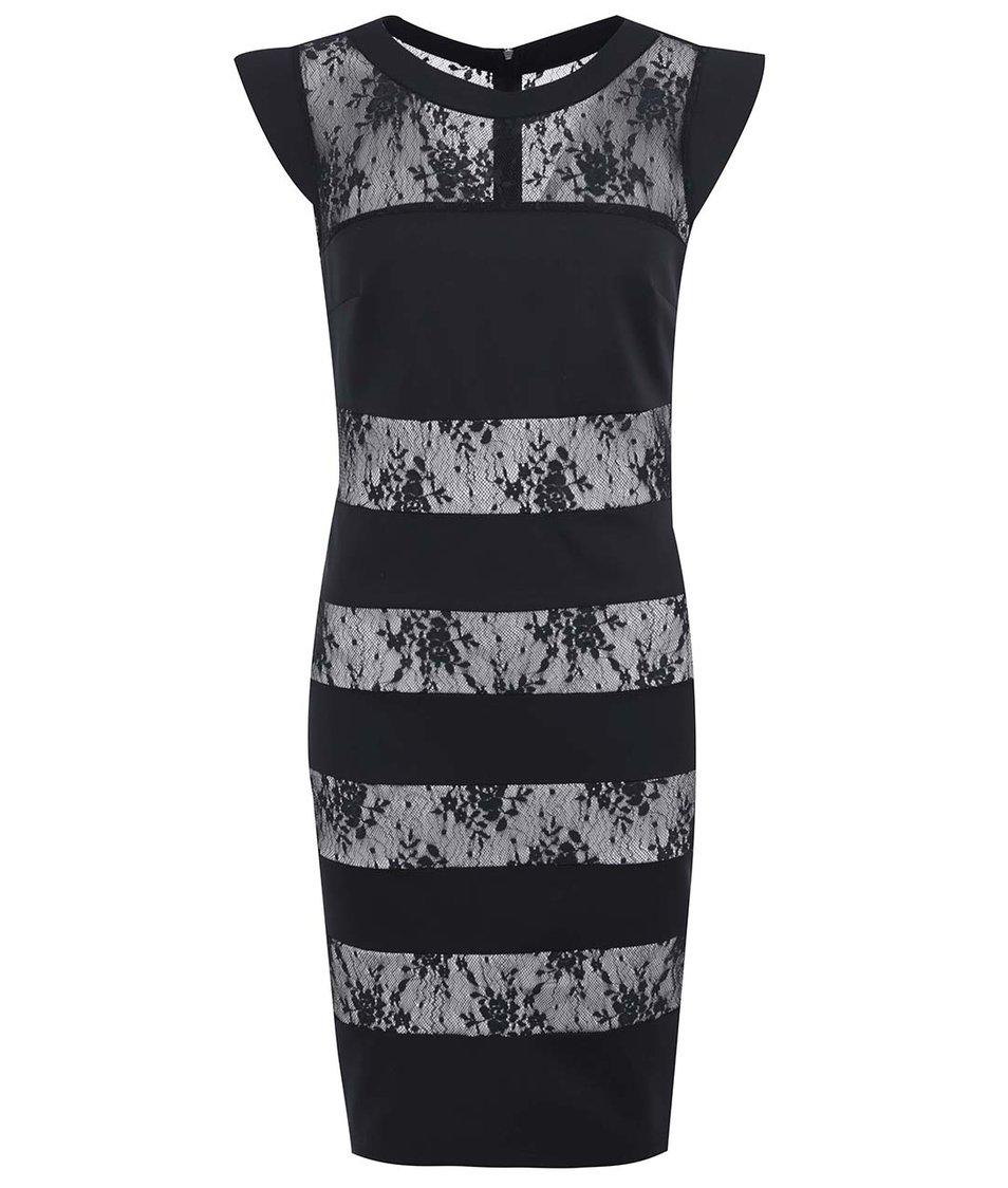 Černé krajkované šaty Paper Dolls