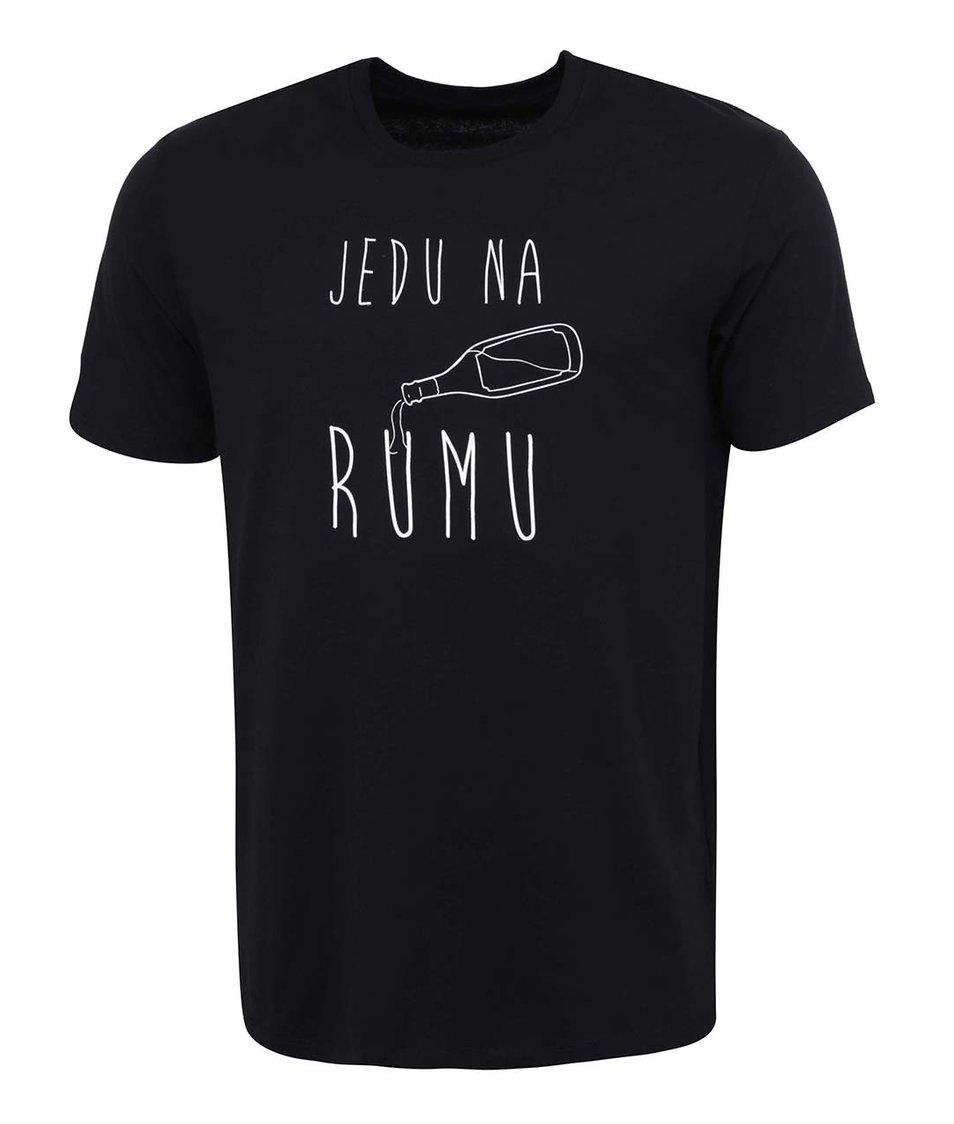 Černé pánské triko ZOOT Originál Jedu na rumu