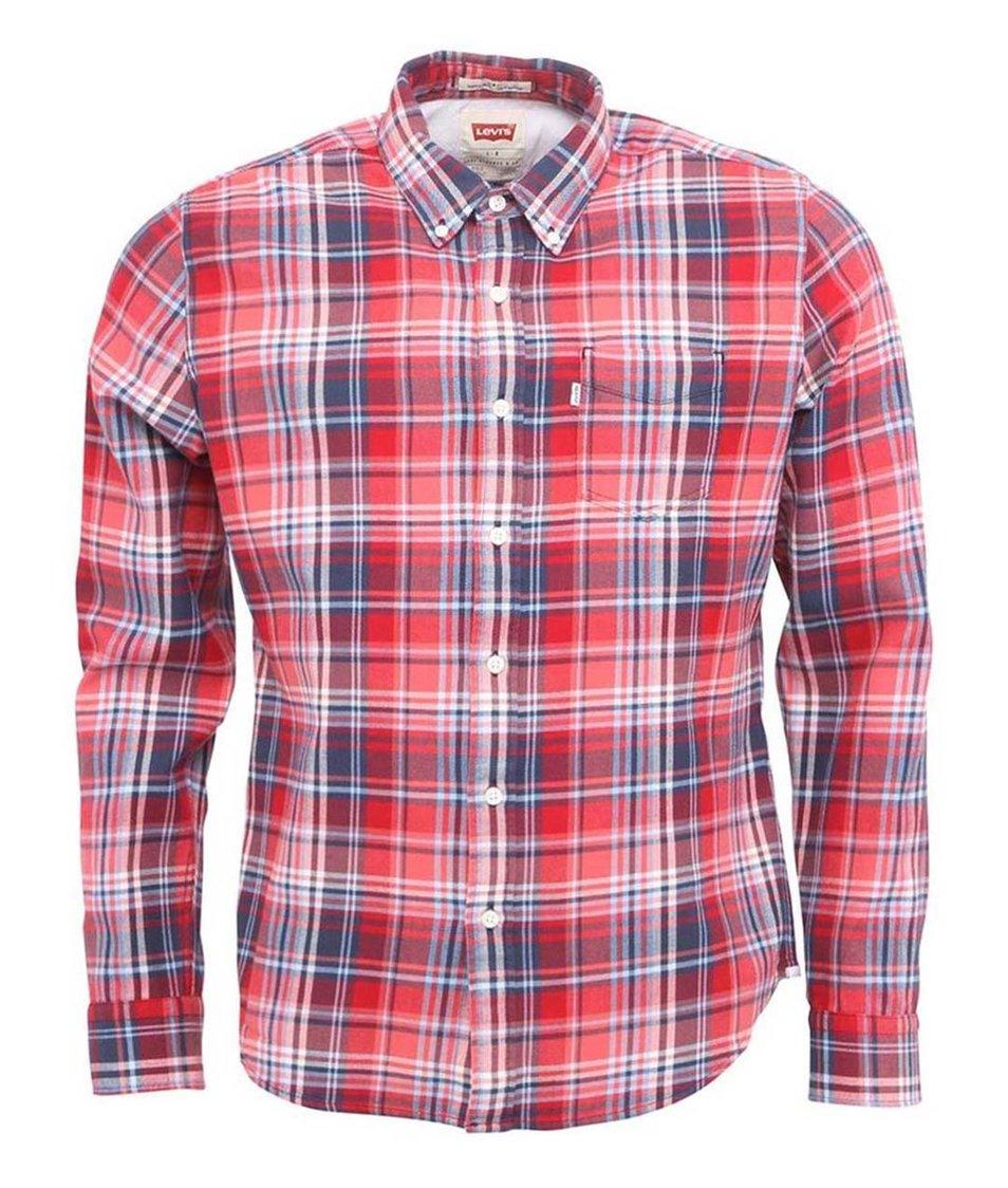 Červená pánská kostkovaná košile Levi's®