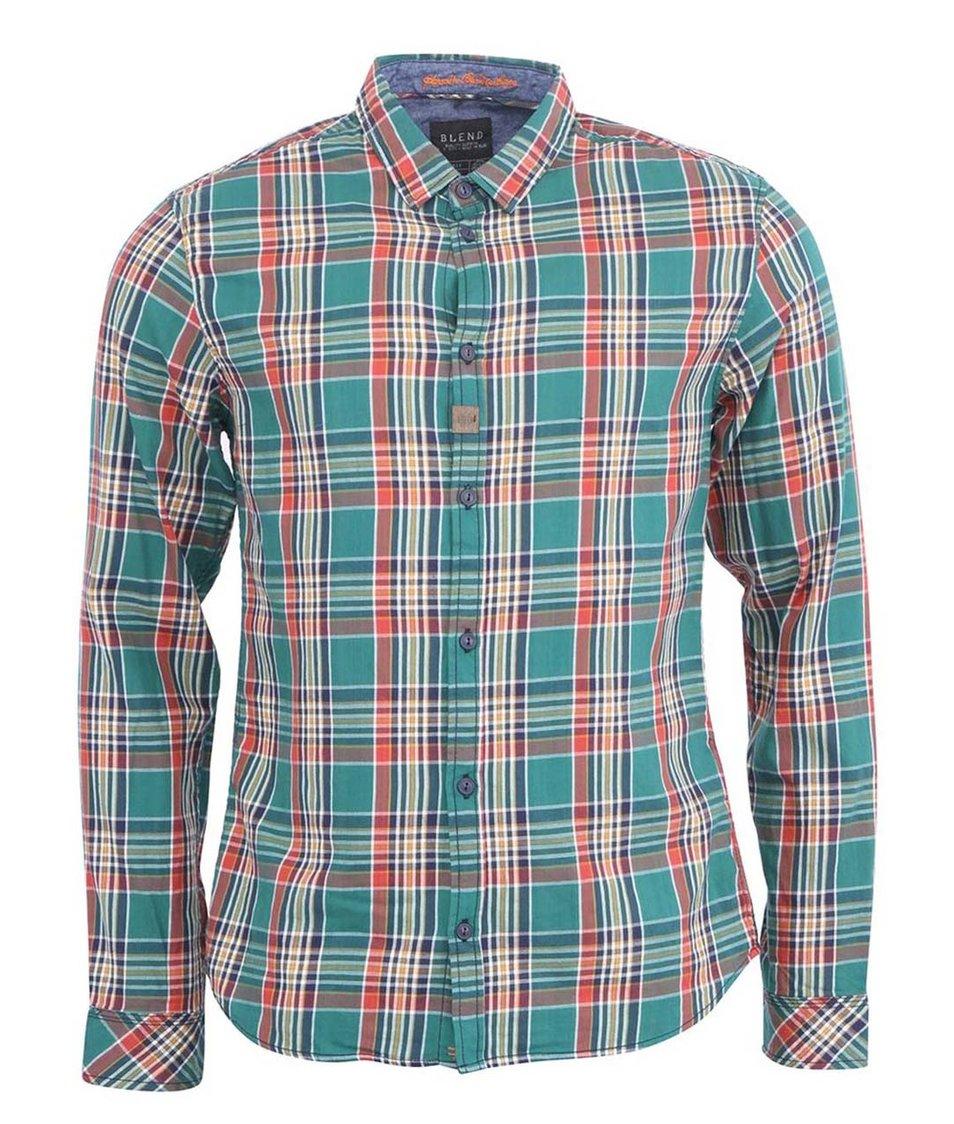 Zelená pánská kostkovaná košile Blend