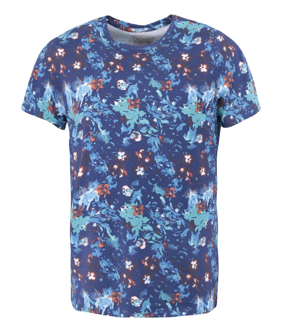 Modré květované triko Blend