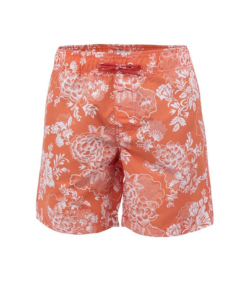 Oranžové květované plavky Blend