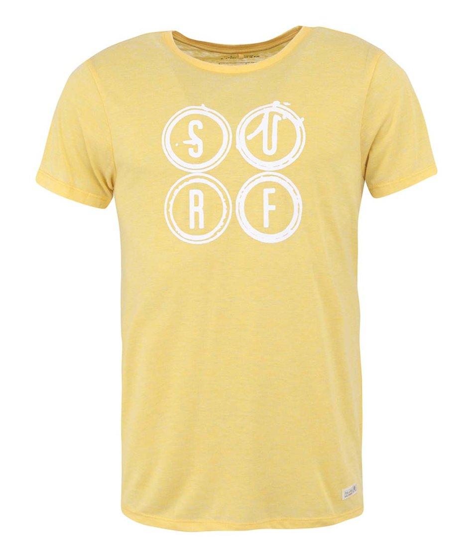 Žluté triko s potiskem Blend Surf