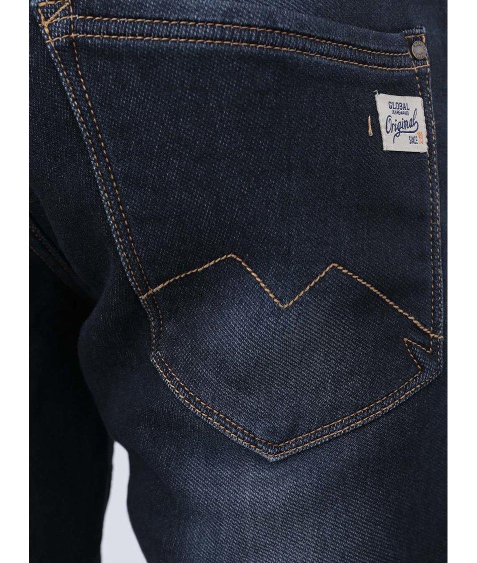 Tmavě modré džínové kraťasy Blend