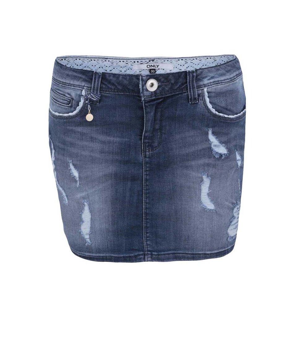 Modrá džínová sukně ONLY Claudi