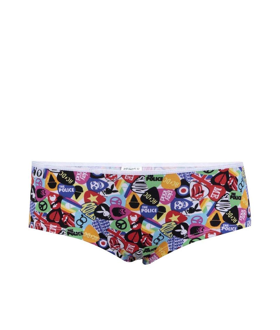 Barevné bokové kalhotky s trsátky 69SLAM 0eb4dd01f5