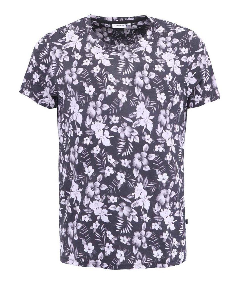 Černé pánské triko J.Lindeberg Sev Floral