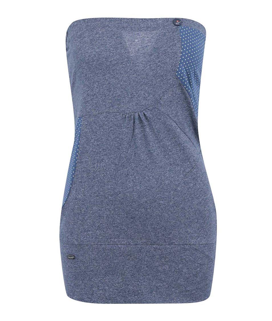 Modrý top Ragwear Shortie