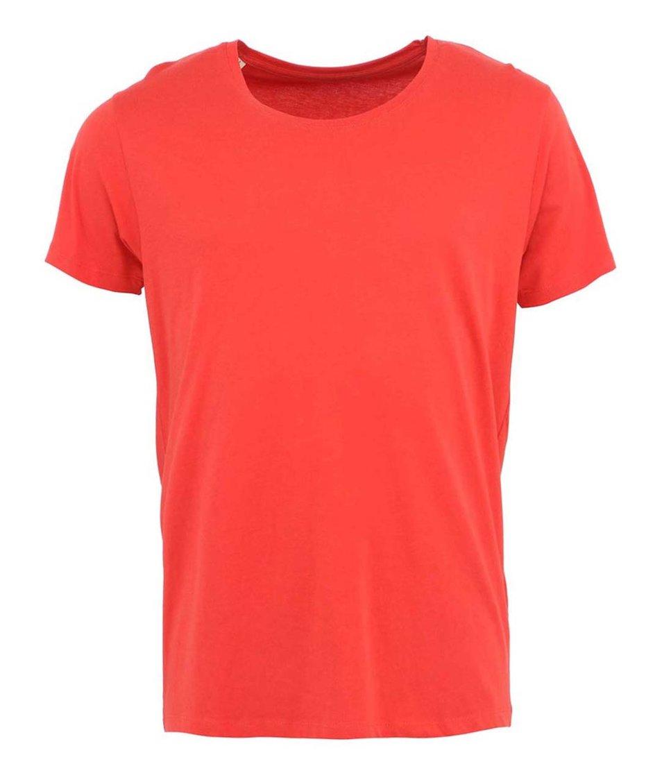 Červené triko Selected Pima