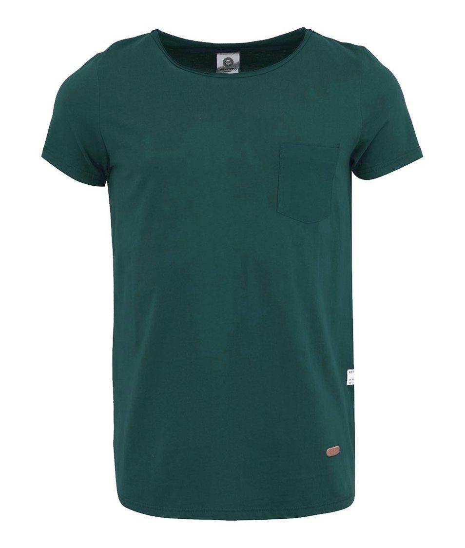 Petrolejově modré triko s kapsou Bertoni