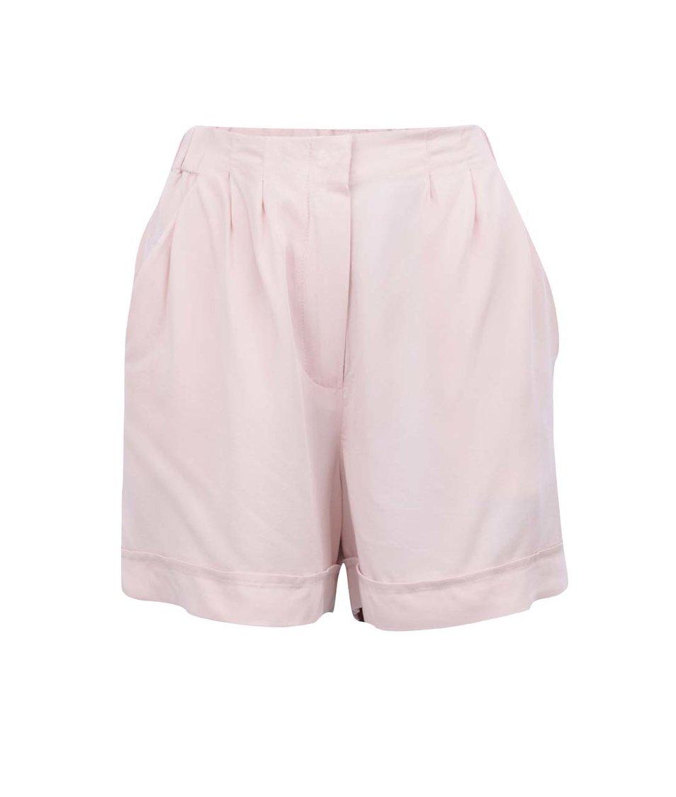 Růžové volnější kraťasy Vero Moda This Friday
