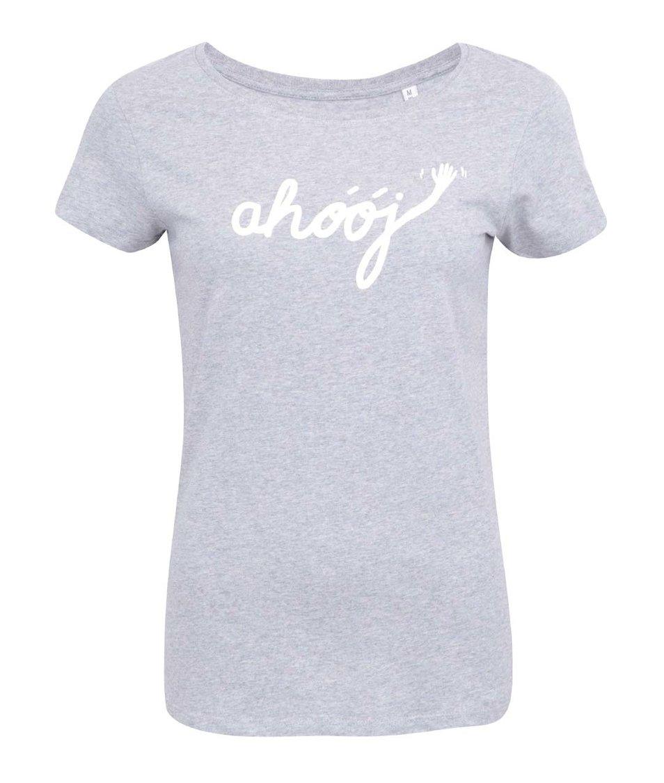 Světle šedé dámské tričko ZOOT Originál Ahoj