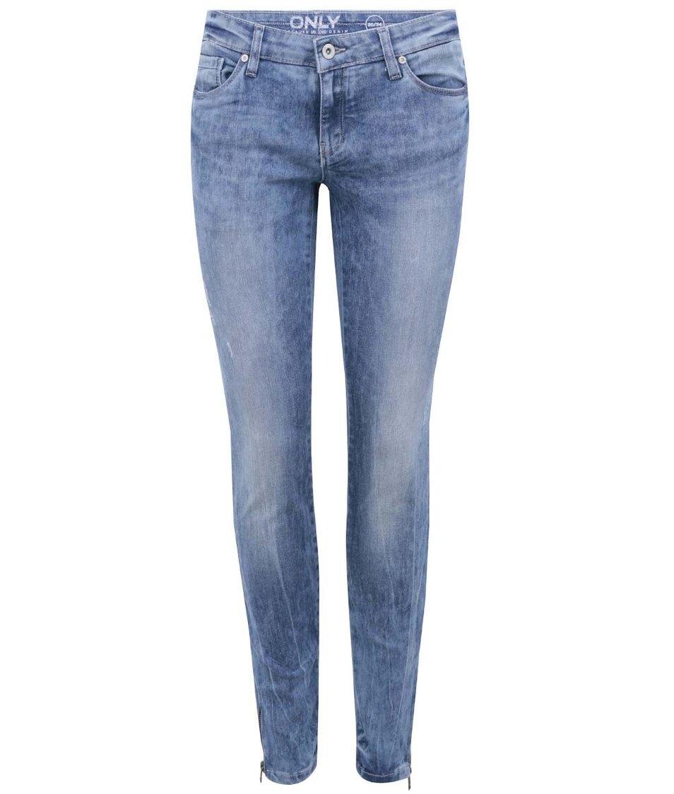 Modré skinny džíny ONLY Carrie