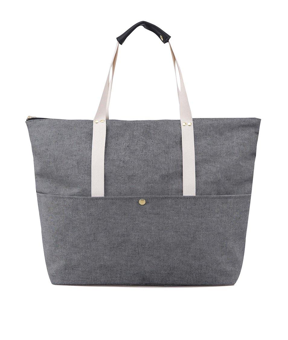 Šedá denimová cestovní taška ZOOT Lokál