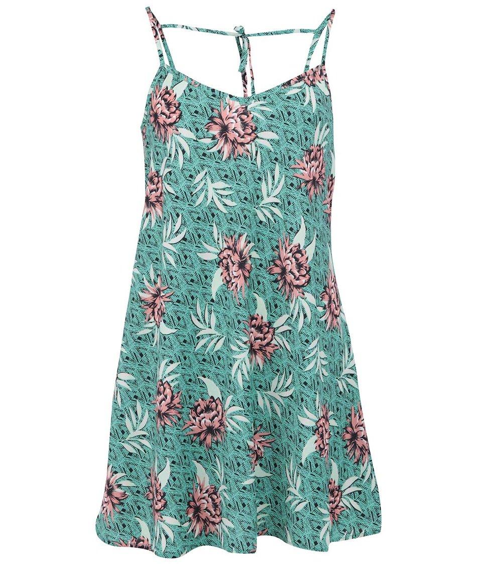 Zelené šaty s květinami New Look