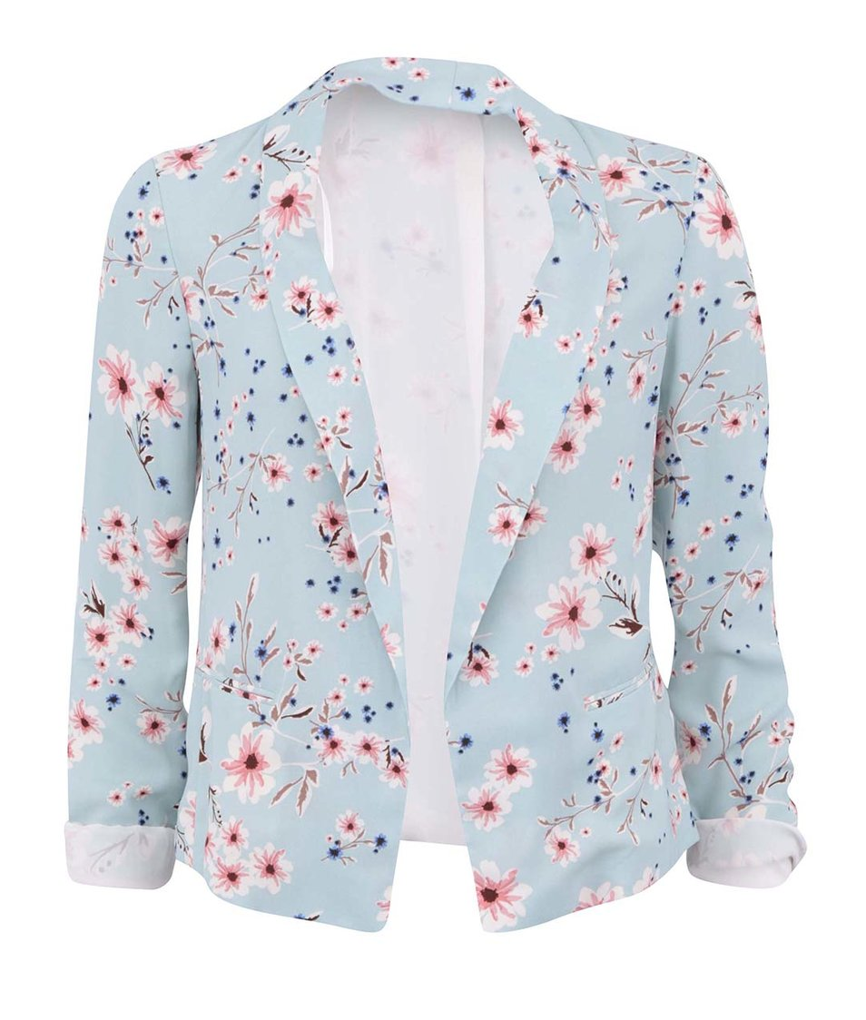 Modrozelený blejzr s květy New Look