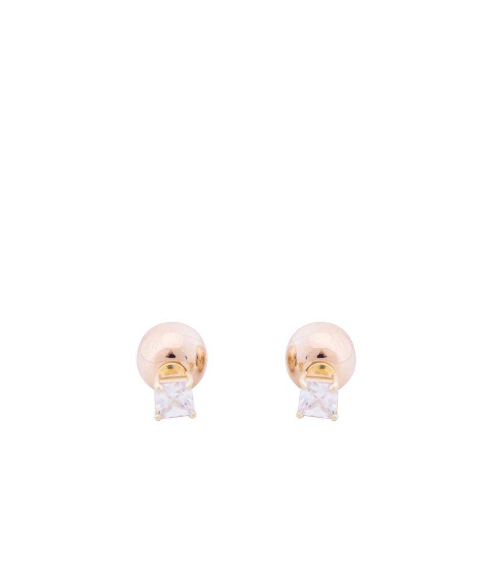 Náušnice ve zlaté barvě Pieces Nerine