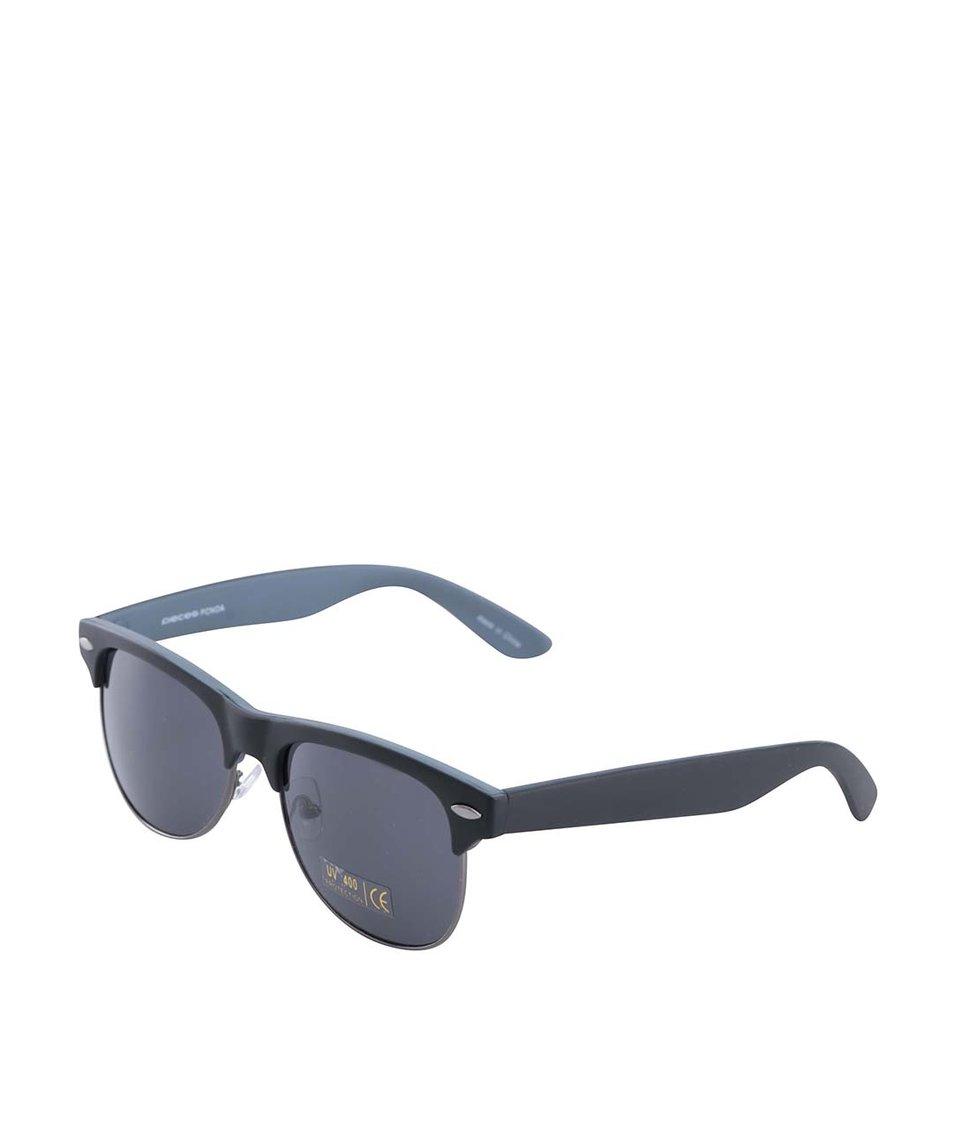 Černé sluneční brýle Pieces Noa