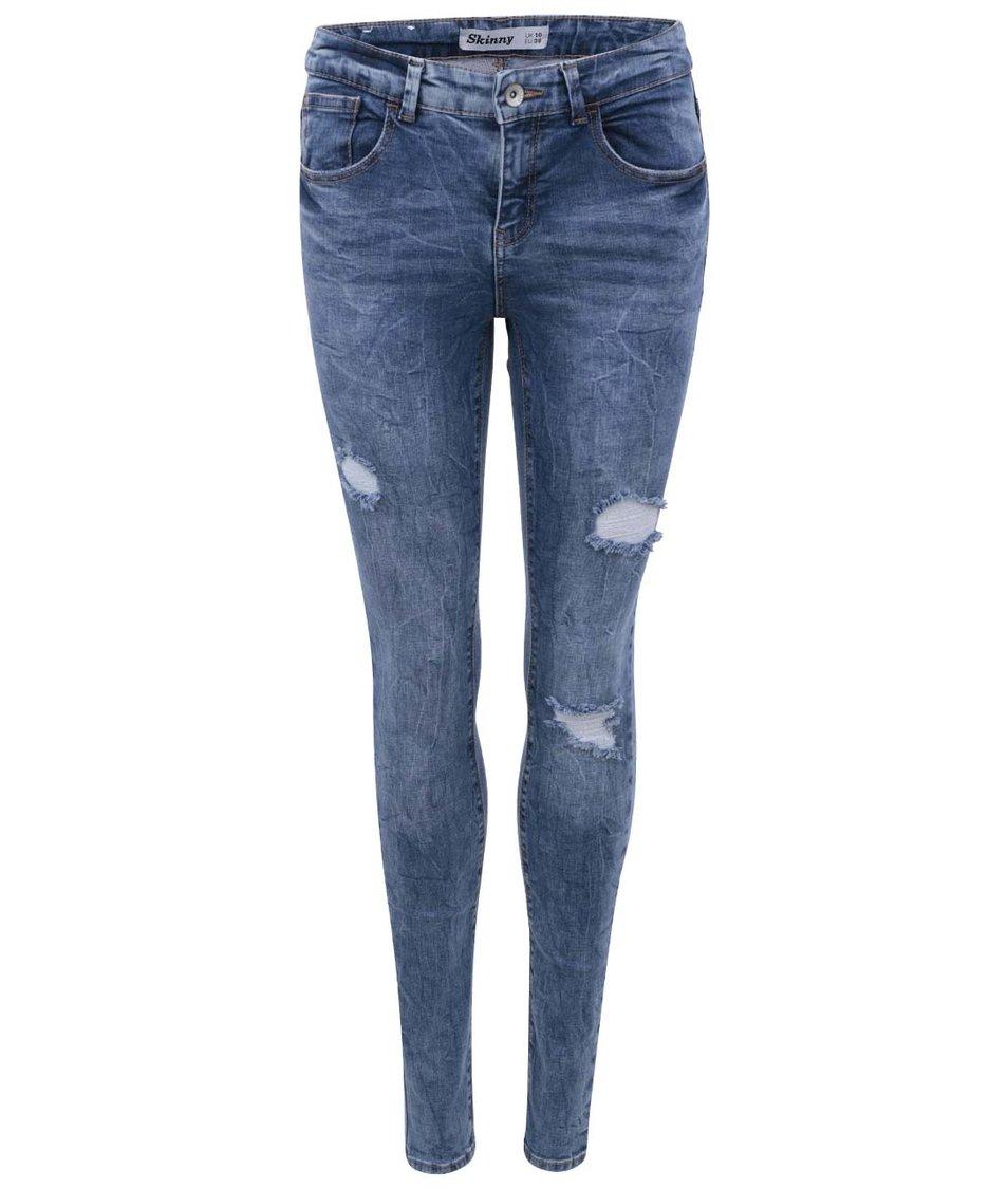 Modré džíny s dírami New Look