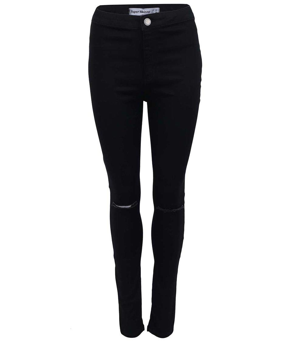 Černé džíny s roztrhaným efektem New Look