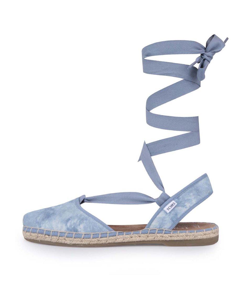 Světle modré dámské sandály Toms