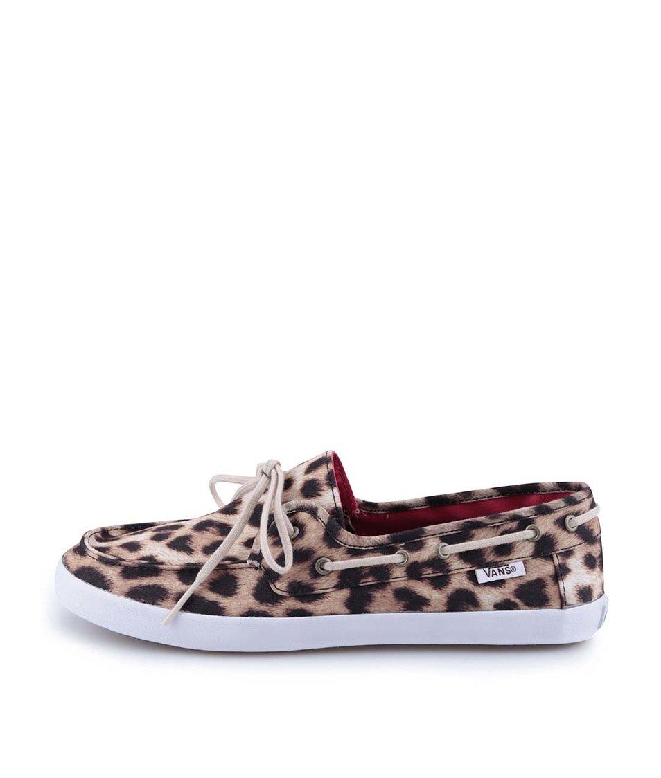 Leopardí dámské tenisky Vans Chauffette