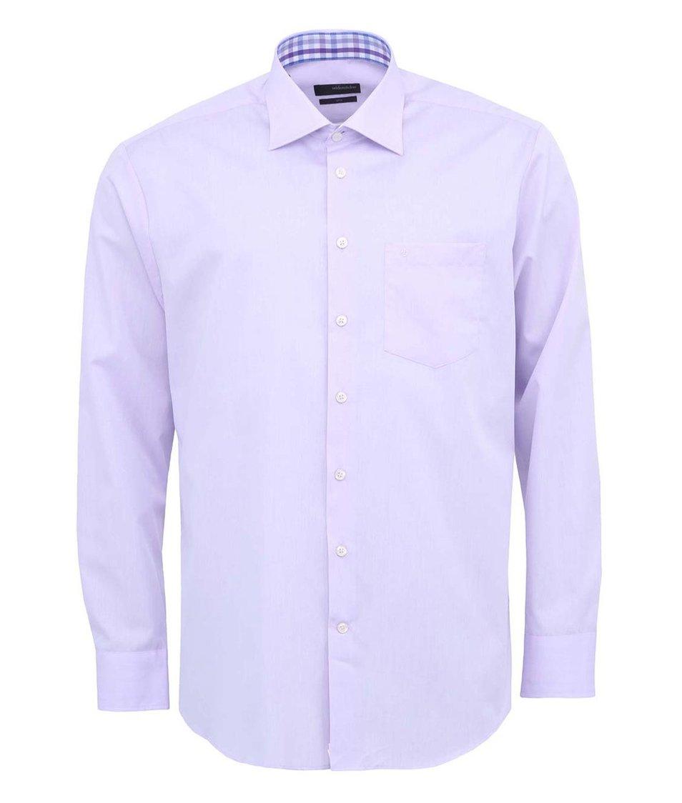 Světle fialová košile Seidensticker Kent Patch Regular Fit