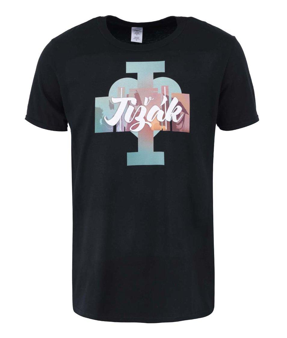 Černé pánské triko I Love Jižák