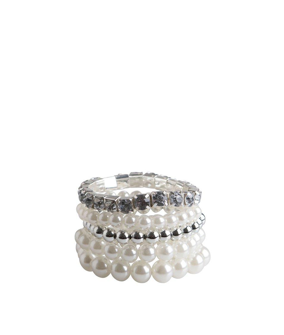 Bílo-stříbrné perličkové náramky Pieces Nanni